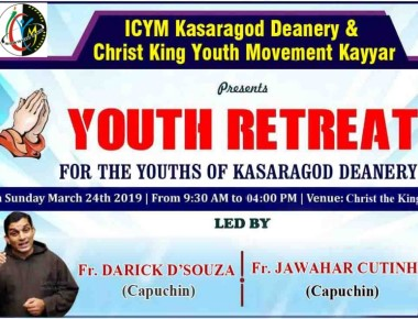 ICYM Kasargod Deanery in collaboration with ICYM Kayyar Unit to hold Youth Retreat