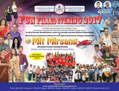 United Mangaloreans Kuwait (UMK) presents Konkani social comedy drama
