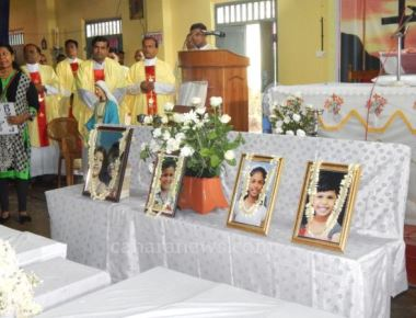 Thousands gathered to pay home homage to the 5 little kids of Trasi tragedy