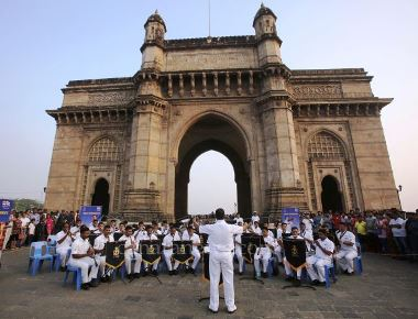 Band Performance at Gateway of India