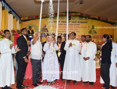 9th Diocesan Youth Convention of ICYM Mangalore Diocese inaugurated uniquely with a grandeur