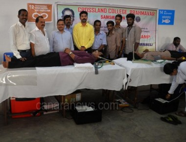 Blood donation camp at crossland