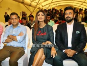 Shilpa Shetty during launch of TV game show