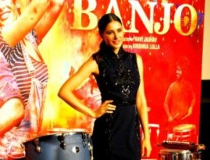 Nargis Fakhri and Riteish Deshmukh during trailer launch of their up coming movie Banjo