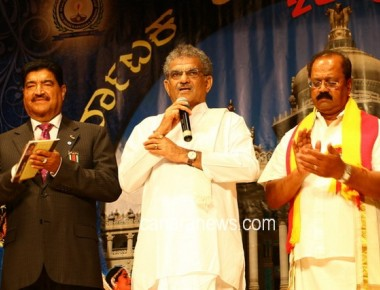 60th Karnataka Rajyotsava Celebration by Abu Dhabi Karnataka Sangha Inaugurated by Dr. Veerendra Hegde