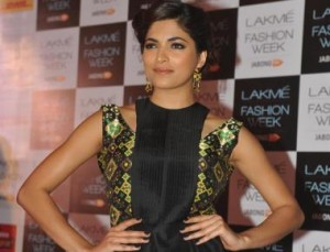 Model Parvathy Omanakuttan during Lakme Fashion Week curtain-raiser in Mumbai on July 28, 2014