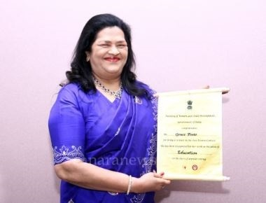 President of India felicitates Mrs. Grace Pinto among 100 Women Achievers…