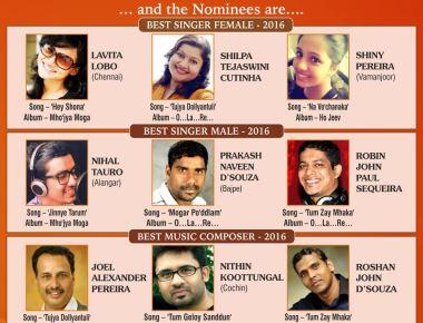 9th Global Konkani Music Awards on Sun., Dec. 10, 2017, at Kalaangann.