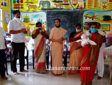 Distribution drive conducted by St Agnes College helps 500 families