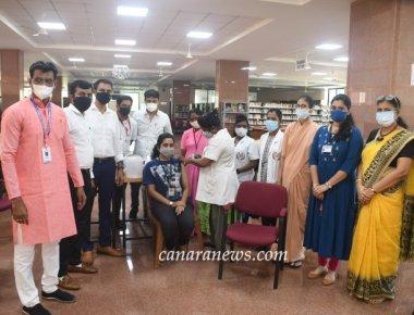 Around 1,000 people get vaccinated at St Agnes College, Mangaluru
