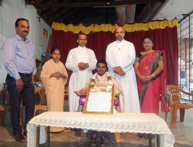 Farwell to the Asst. Parish Priest of Holy Rosary Church, Kundapur