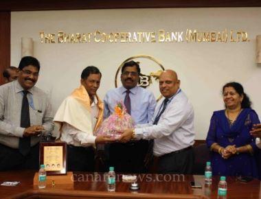 Bharat Bank employee Shankar  Suvarana retired from the service