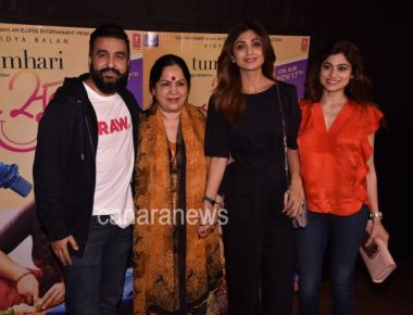 Shilpa Shetty, Shamita Shetty, Javed Akhtar, Aditi Rao Hydari, Bhumi Pednekar, Dia Mirza and many more at the star studded screening of Tumhari Sulu