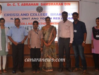Blood donation and Free Eye checkup camp at Crossland College