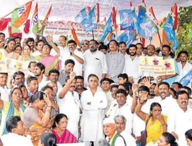 Cong leaders protest raids, call them an 'assault on democracy'