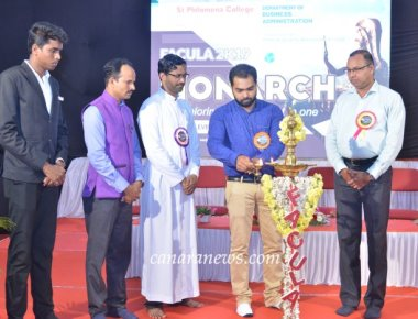 National level Management Fest FACULA-2019 'MONARCH' held at SPC Puttur