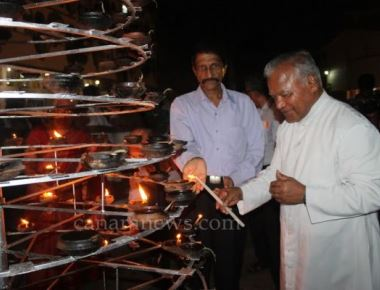 Sarvadharma Deepavali celebrated at Mother of Sorrows Church, Udupi