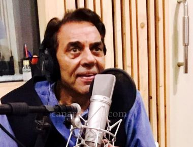 Veteran Actor Dharmendra ji spotted during the dubbing of his first International Short film 'Dreamcatcher'