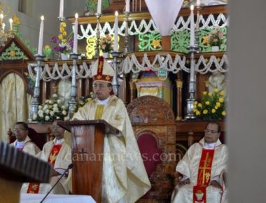 Diocesan Priests' Day and Blessings of Holy Oils held at Milagres Cathedral, Udupi Diocese