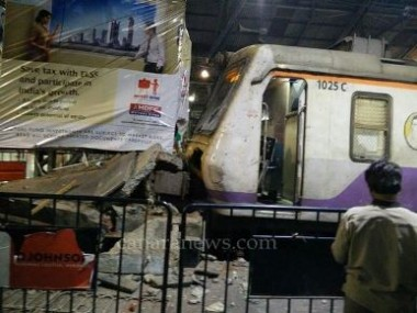 Mumbai local train rams into platform buffer at CST, Central Railway trains delayed