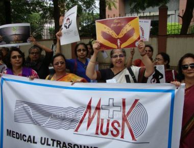 Bangalore Doctors Protest Against Harassment of Sonologists and Radiologists
