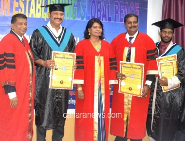 Producer, Actor Mr. Rajashekar R. Kotain Honoured with Doctorate