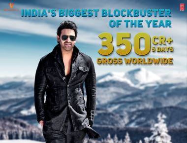 Undisputed Superstar Prabhas starrer 'Saaho' earns 350 Crore worldwide in just five days of its release!