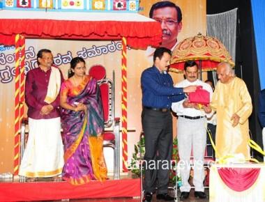 Honorary Release of G T Acharya's 60th Greeting Book 'SNEHA-SAMPADHA'