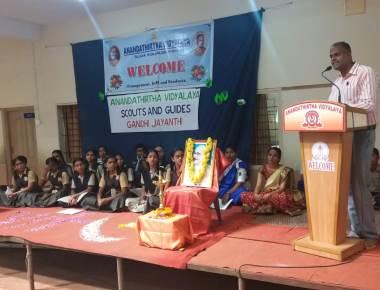 Dignity of Labour Emphasised during Anandathirtha Vidyalaya's Gandhi Jayanthi Celebrations