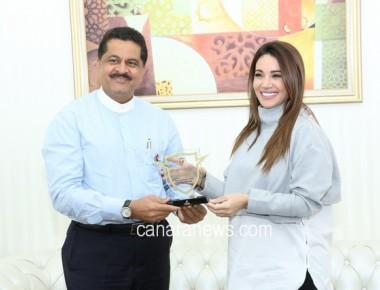 Arab Singing Sensation Diana Haddad Visits Gulf Medical University to Support Diabetes Awareness Program