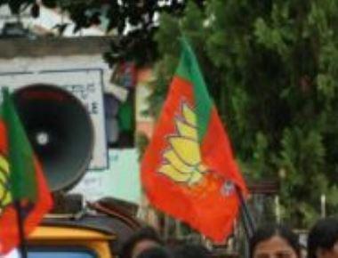BJP protest demanding resignation of K J George