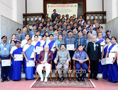 Governor presents State Awards for Best Scouts & Guides at Raj Bhavan