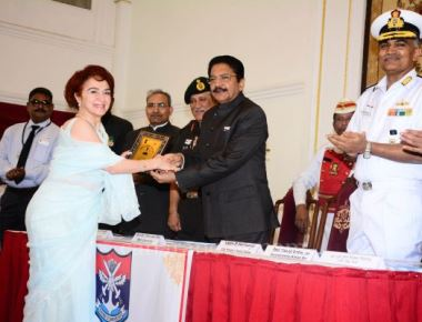 Governor launches Armed Forces Flag Day Fund Collection Drive at Raj Bhavan