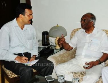 Shri D.H Shankarmoorti newly  appointmented H.E Governor of Maharashtra with Journalist Rons Bantwal
