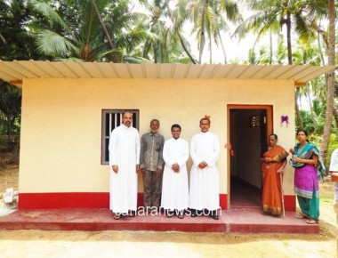 ICYM Holy Rosary Kundapur constructed a house for a poor man