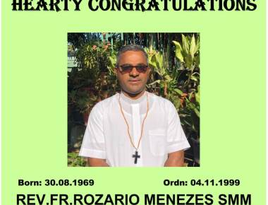 Pope Appoints Rev Rozario Menezes Bishop of Lae, PNG
