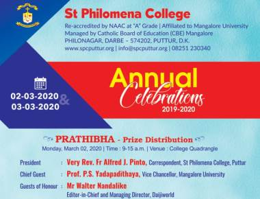 St Philomena College Puttur to hold Annual Celebrations on March 2, 3rd