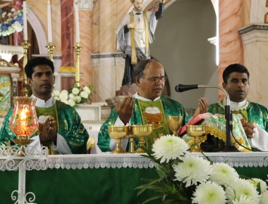 St Anthony's Ashram Jeppu  Fourth day novena in preparation for the feast of Relic of St Anthony.