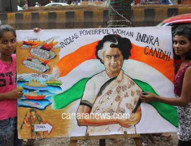 Gurukul students remembers Late Smt. Indira Gandhi through painting in Mumbai