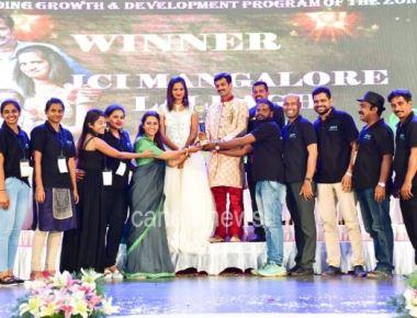JCI Sen Soujanya Hegde bagged Best Zone President Award