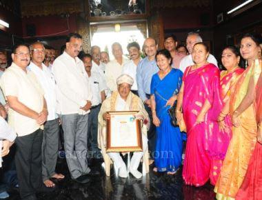 Jaya Suvarna Honored by The Billawas Association Bengaluru