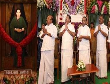 Jayalalithaa's portrait unveiled in TN assembly
