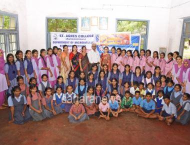 St Agnes college(Autonomous) organized blood typing program