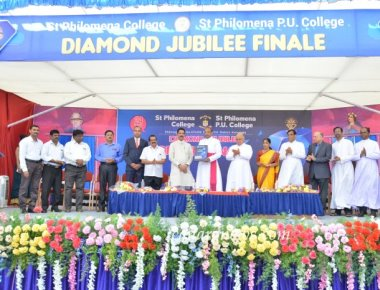 Grand Finale of Diamond Jubilee Celebrations held at St Philomena College Puttur