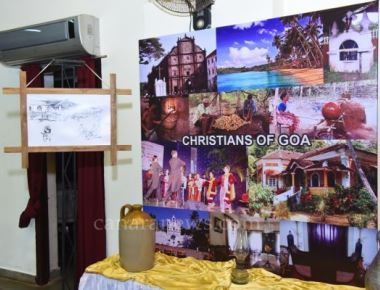 One-day Exhibition of Paintings & Photos of various Konkani Communities, was held at Kalaangann
