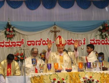 The Annual Feast of Our Lady of Vailenkani at Kalmady celebrated by thousands  of devotees