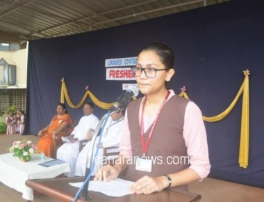 Lourdes Central School conducts fresher's day programme