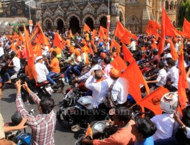 Marathas rev protest engines in city