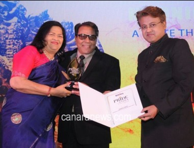 Madam Grace Pinto receives Pride of India Award