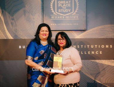 "The prestigious ""Education Evangelist of the Year"" Award was conferred upon Madam Grace Pinto"